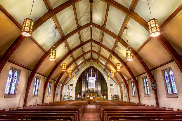 Inside of First Lutheran Church