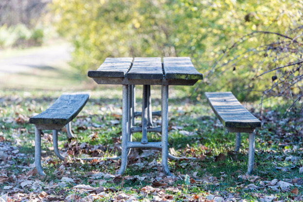 Picnic table at Eagle's Nest Park