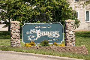 Welcome to St. James sign