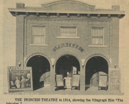 Photo of the Princess Theater in 1914