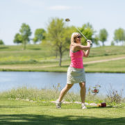 Women playing golf at South Fork Creek Golf Club
