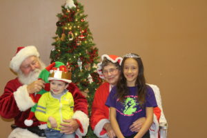 photo of santa and children