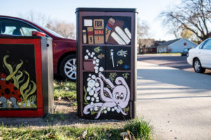 picture of painted utility boxes