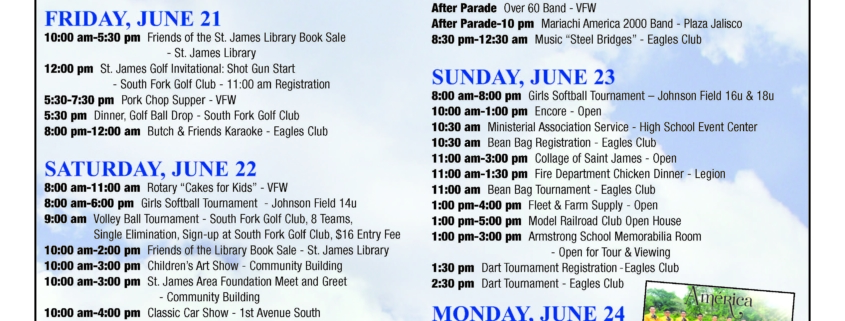 Railroad Days event flyer
